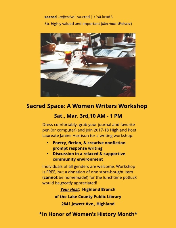Sacred Space Women's Writing Workshop
